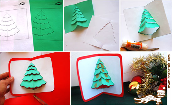 krokotak POP-UP Christmas Cards