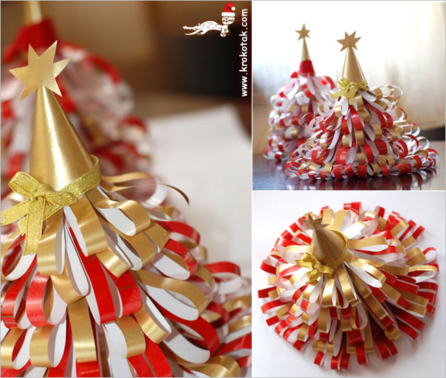 paper Christmas tree how-to