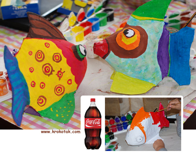 Cola Bottle FISH kids craft