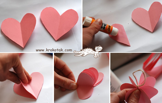 krokotak PAPER HEART Tree