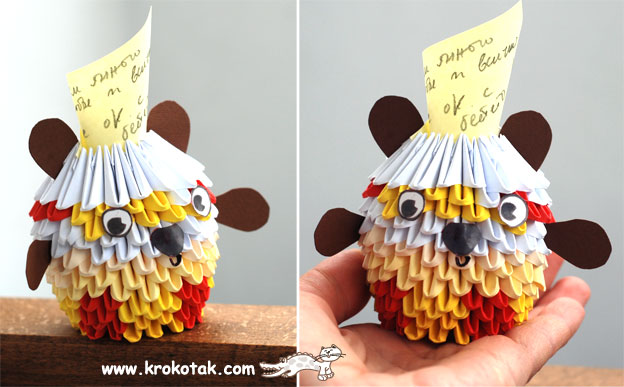 Learn to Make 3D Paper Origami Animal Doll Basket - Origami craft ...   387x624