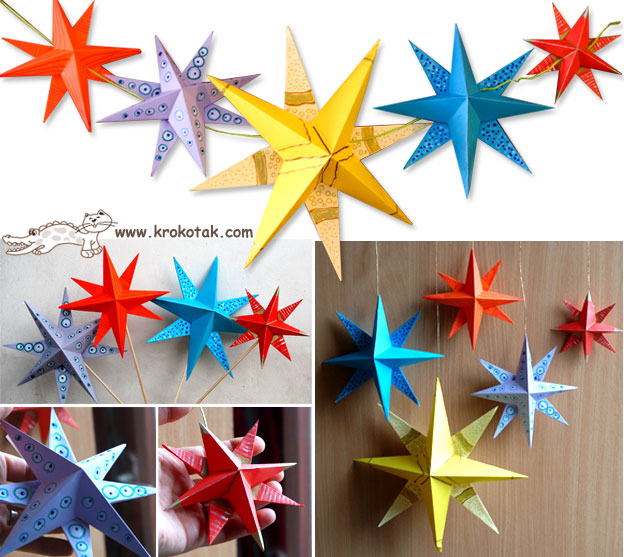 Christmas stars from paper