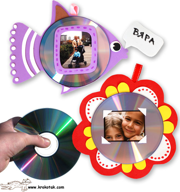 Krokotak Kids Photo Frames From Old Cds