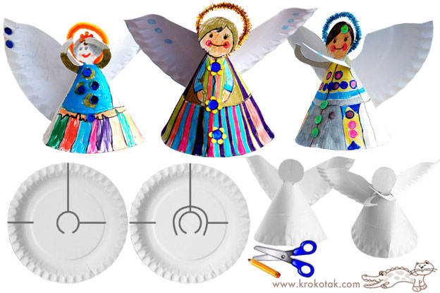 Paper Plate Christmas Craft Angel