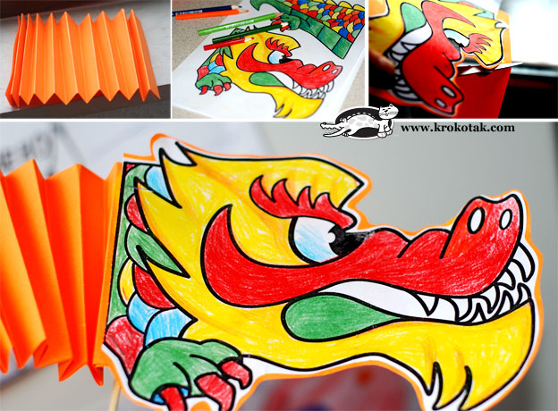 cardboard dragon template - krokotak the year of the dragon