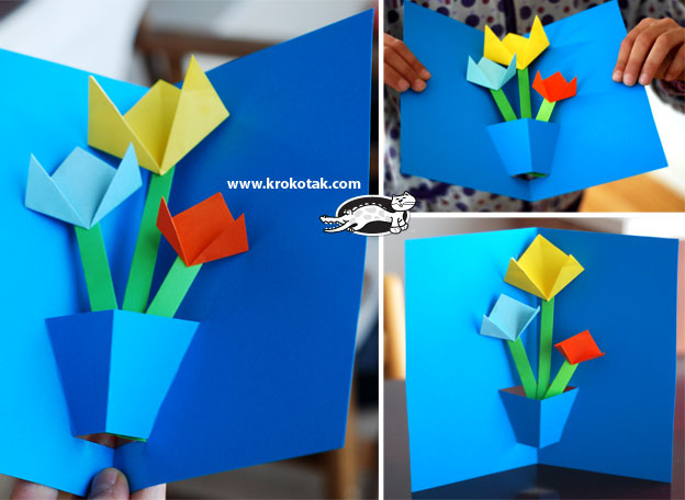 Krokotak pop up flower card pop up flower card mightylinksfo