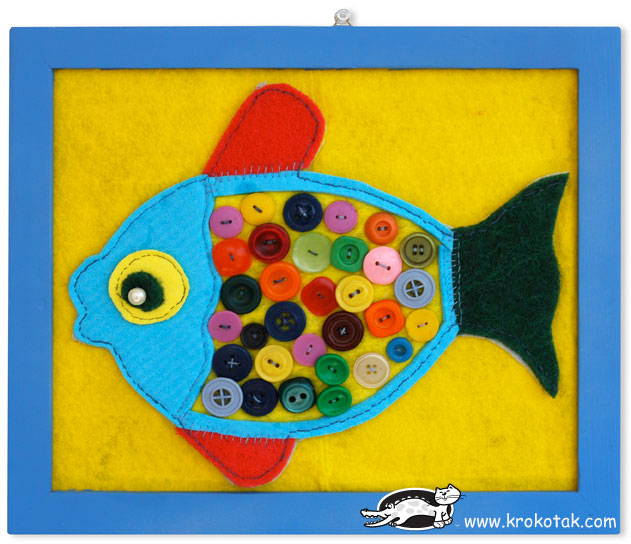 KidsRoomDecoBUTTON-FISH
