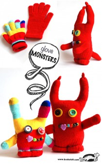DIY monster gloves