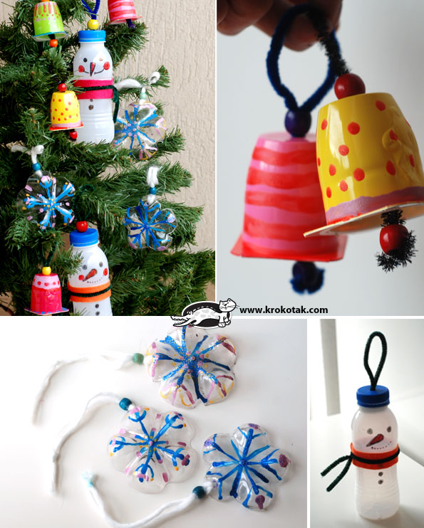 Christmas Decorations Recycled Materials : Krokotak recycled outdoor decorations