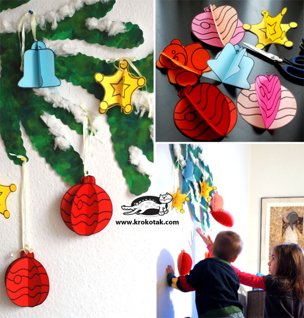 DIY Christmas ORNAMENTS (for School Decoration