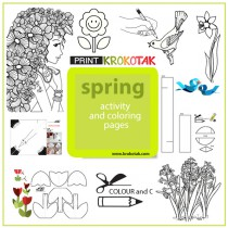 spring coliuring pages