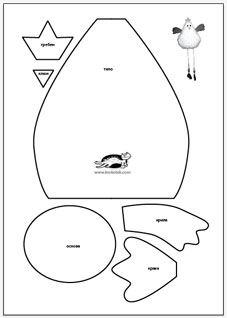 Krokotak decorative chicken template for Easter chick templates free