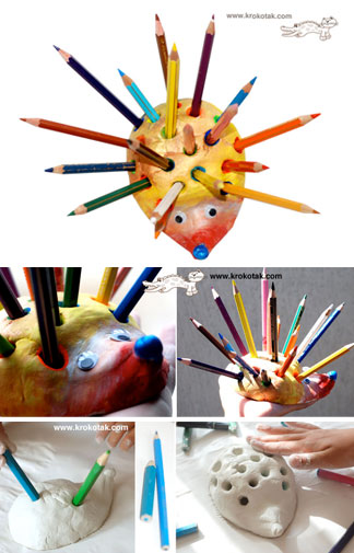 Krokotak Hedgehog Pencil Holder