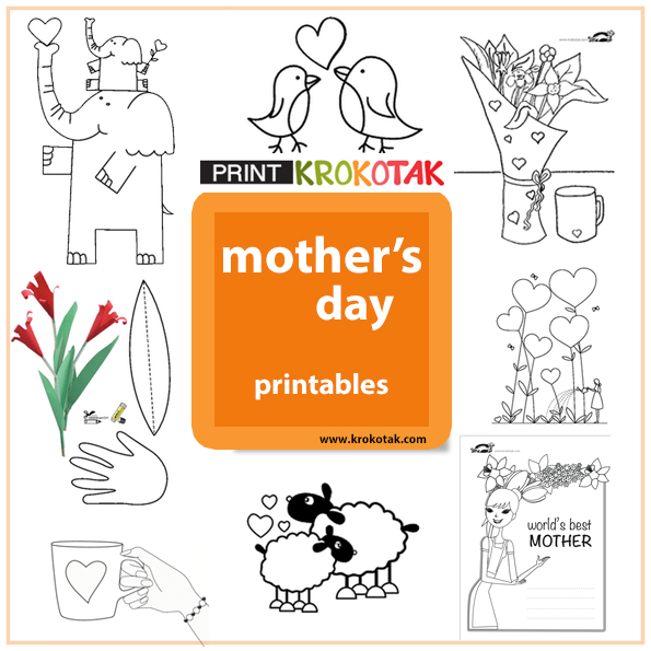 krokotak | Mother\'s Day PRINTABLES