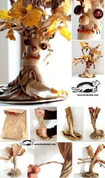 paper-bag-tree kids craft