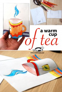 a worm cup of tea kids craft