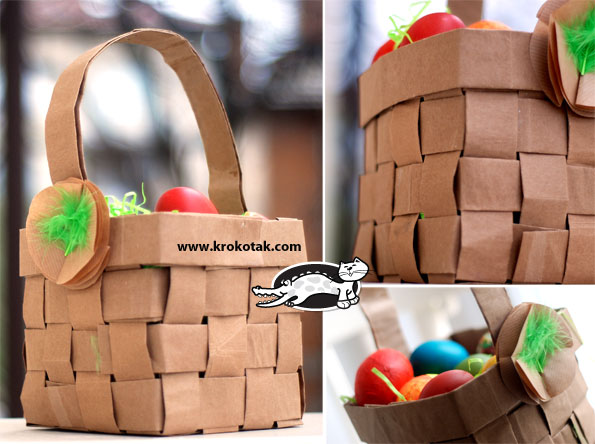 recycled paper bag easter basket