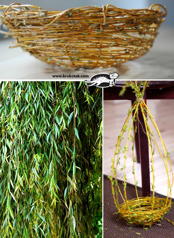 how to weave a willow basket