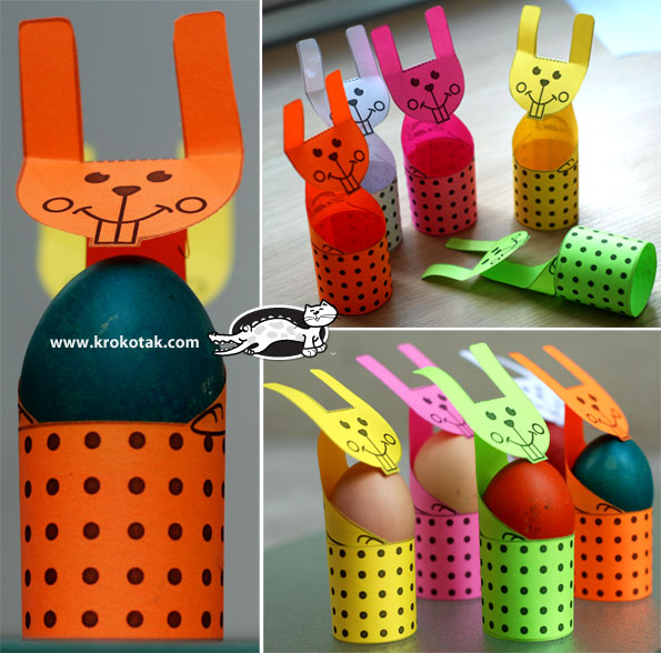 Easy-to-Cut EGG STANDS for Kids