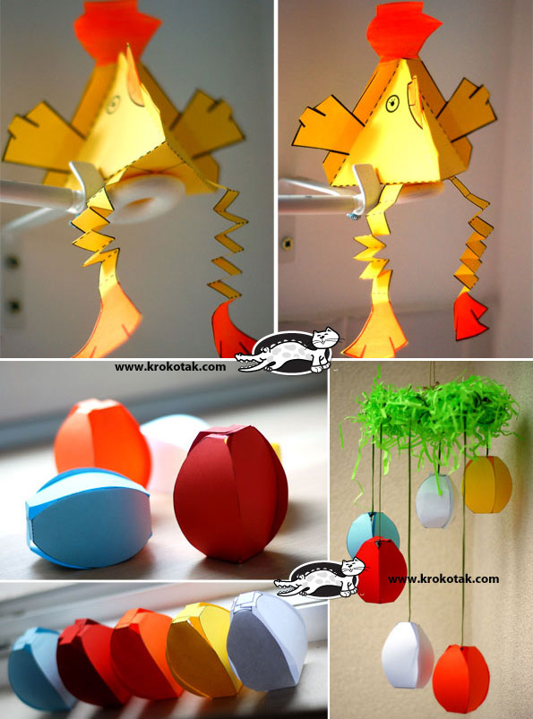 krokotak 2 Easter Paper Crafts