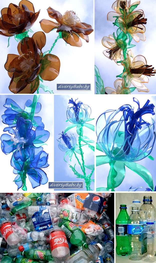 Krokotak Plastic Bottle Flowers