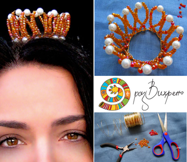 how to make a bead crown