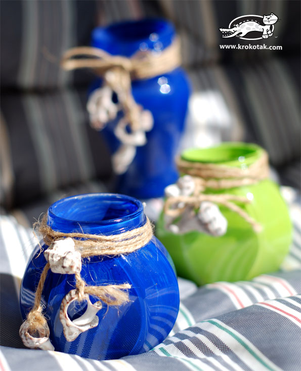 Colorful Jam Jars