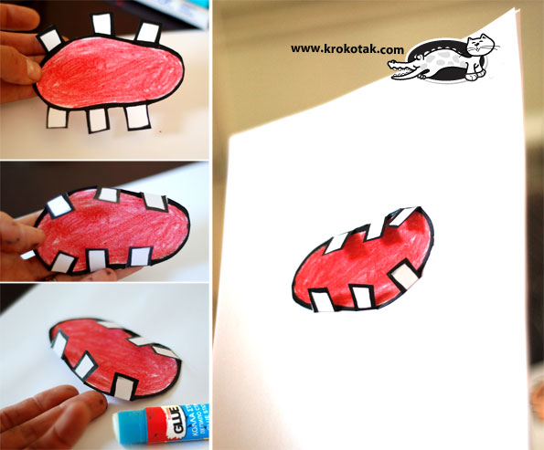 Monster Mouth Drawing Draw a Big Wide-open Mouth And