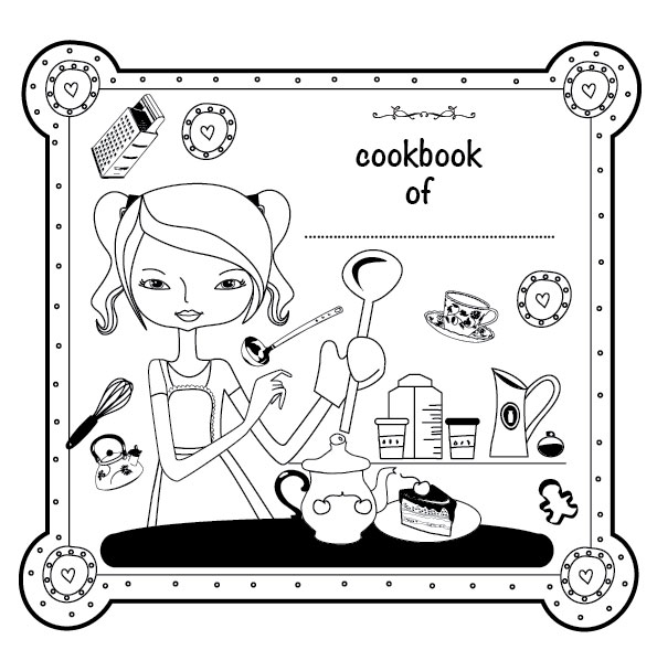 Family Cookbook Cover Template ~ Family recipe book cover template