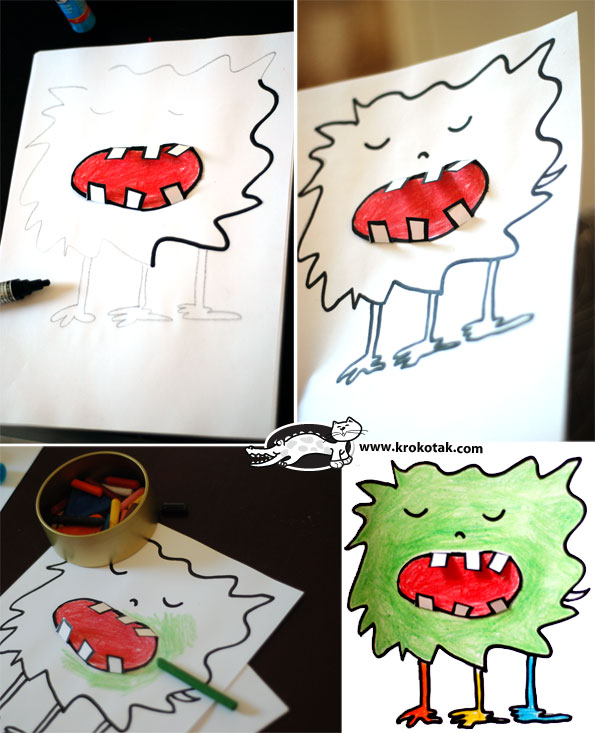 Monsters - toothless, scary and fun to make