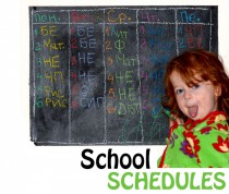 SCHEDULES school