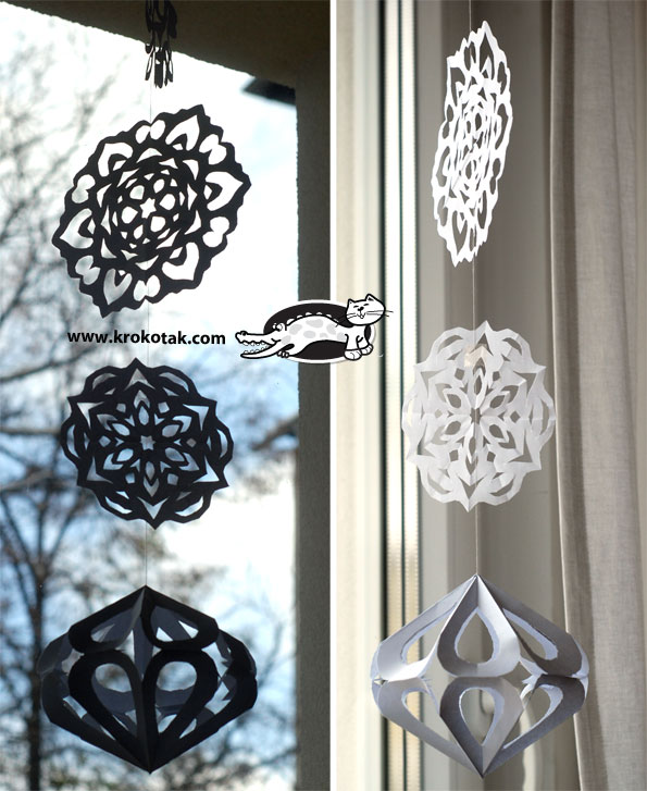 Paper diamonds for decoration