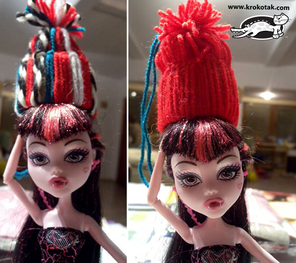 Winter hats for dolls