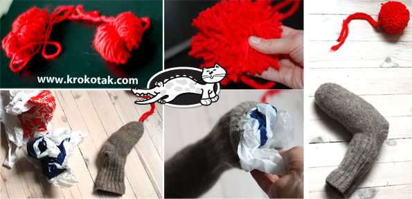 Let's make Rudolph the red-nosed reindeer from a knitted wool sock