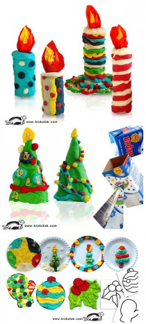 Modelling-clay-CHRISTMAS-crafts-210x467