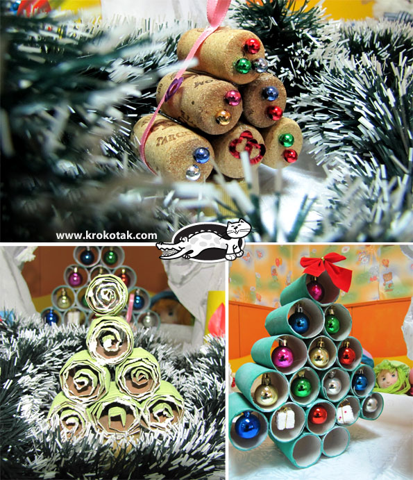 Krokotak your christmas ideas for Use of waste material in decoration