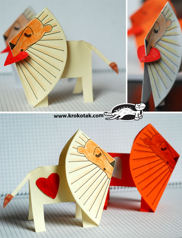 "Paper lion ""I Love You"""