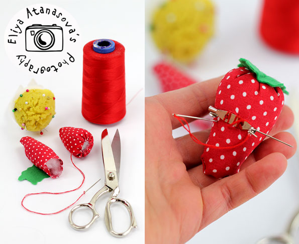 DIY brooch-strawberry