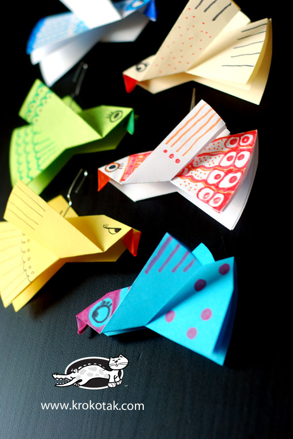 Paper Birds For Colouring Easy To Make