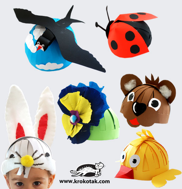See How To Make Your DIY Hat masks For Little Kids