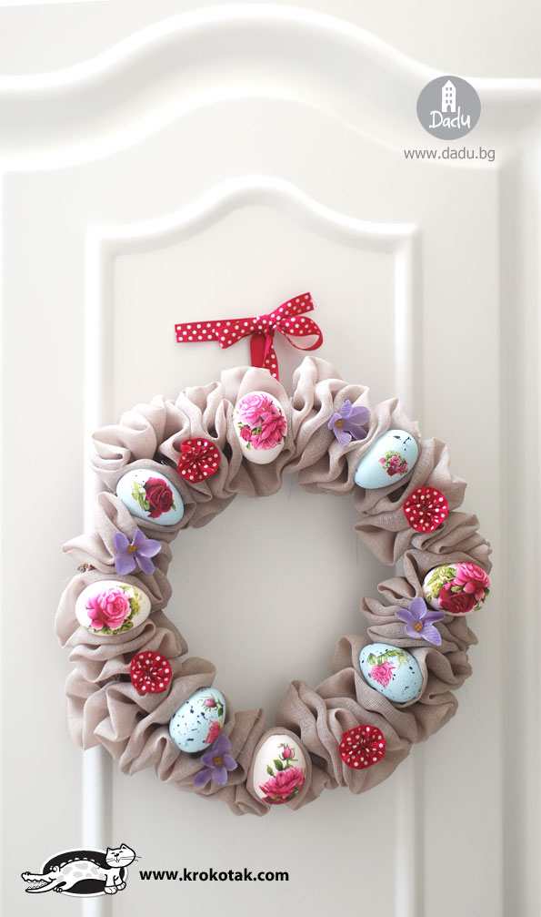 Beautiful Easter wreath