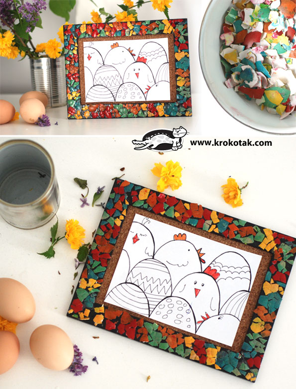 ideas for eggshell mosaic