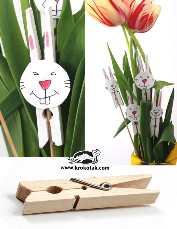 Krokotak Easter Bunny From Painted Clothespins