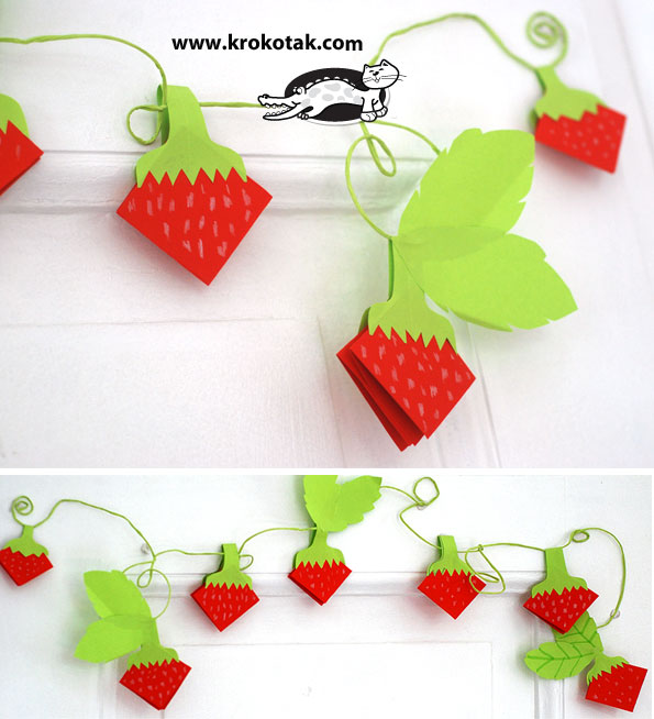 Krokotak Paper Strawberries