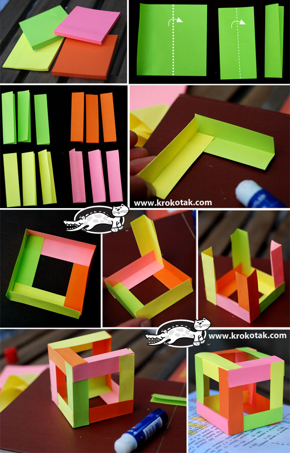 Cool Crafts To Do With Post It Notes
