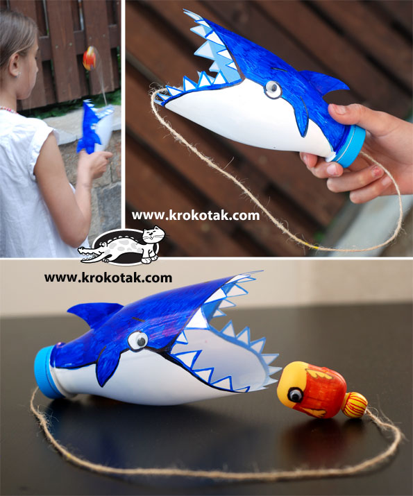 how to make a 3d shark out of plastic