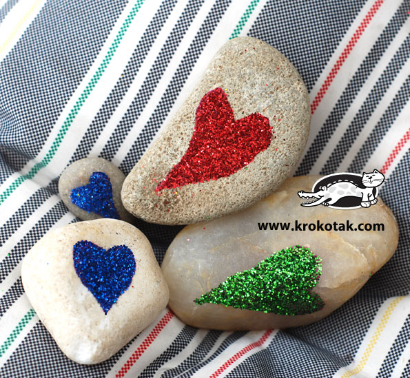 Pebbles in different colours