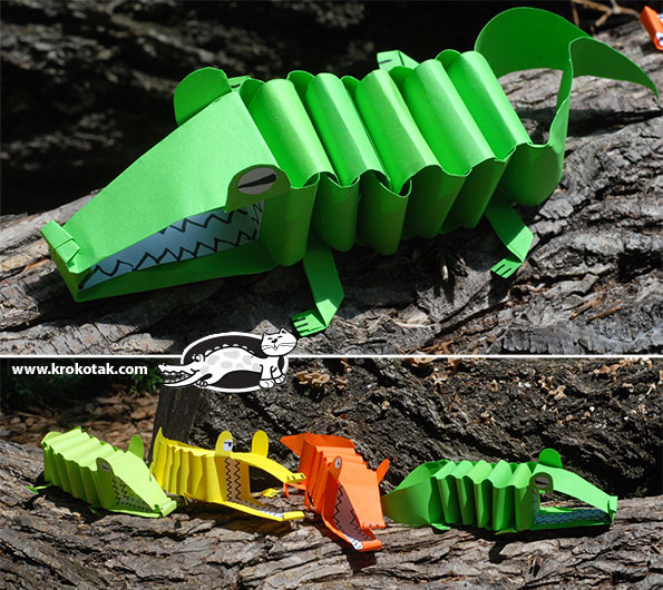 DIY paper alligator
