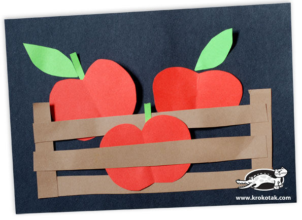 Apples in a box kids crafts