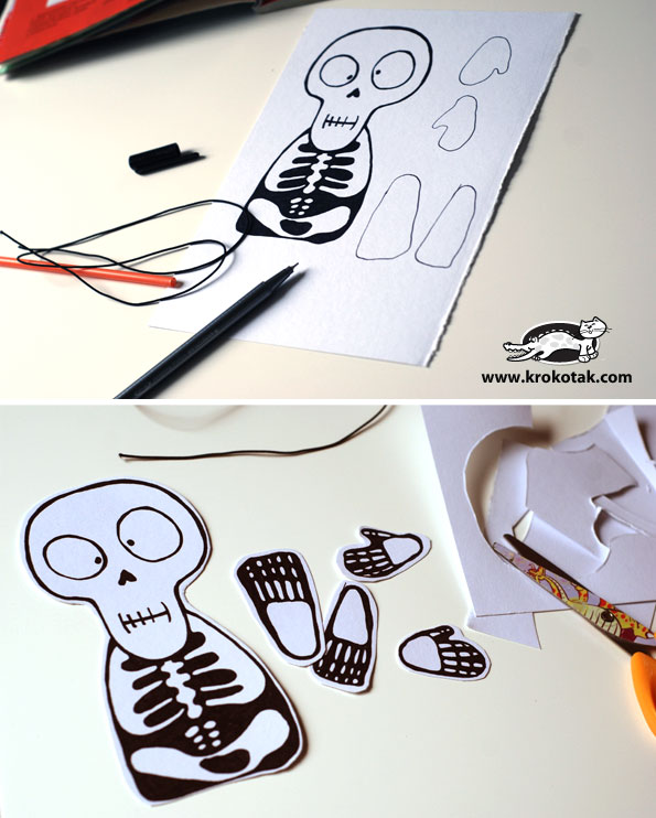 Funny hanging skeleton